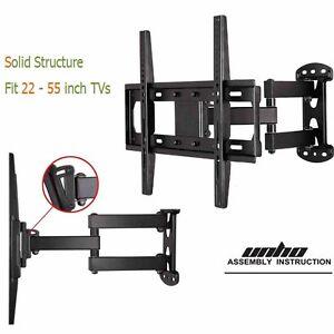 corner tv wall mount arm bracket tilt swivel 29 32 37 39 40 42 47 50 55 led tvs ebay. Black Bedroom Furniture Sets. Home Design Ideas