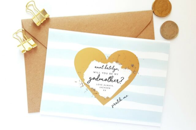 Personalised Will You Be My Godmother Godfather Godparents Scratch off it Card