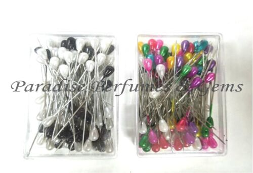Professional Quality 100 Pearl Head Dressmaking Craft Pins-Choose From Colours