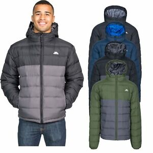 Trespass-Oskar-Mens-Padded-Jacket-Warm-Water-Resistant-with-Hood