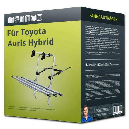 3 Räder NEU FP Menabo Fahrradträger Logic 3 für Toyota Auris Hybrid Fliessheck