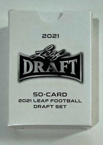 2021 Leaf Draft Football Complete 50 Card Set - Trevor Lawrence-Justin Fields
