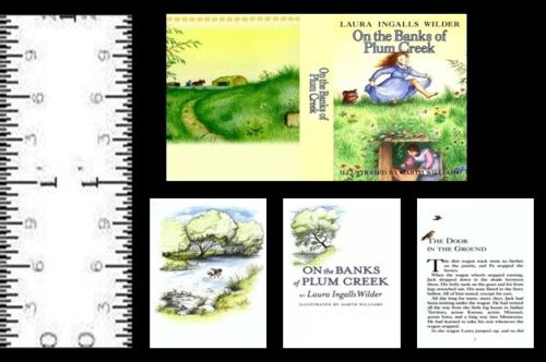 1:12 SCALE MINIATURE BOOK ON THE BANKS OF PLUM CREEK LAURA INGALLS WILDER