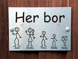 ... Plaque Maison Norvegienne Wendy Personnalise Baton Nom De
