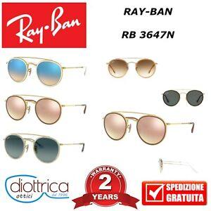 RAYBAN-RAY-BAN-RB-3647N-OCCHIALE-DA-SOLE-OCCHIALI-UOMO-DONNA-POLARIZZATI-ROTONDI