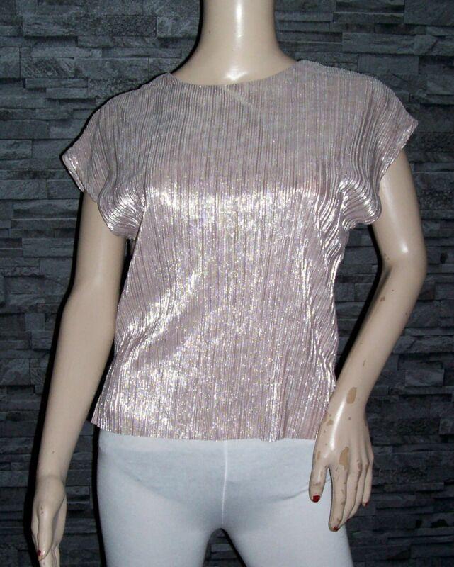 Damen Shirt Gr. S Von Tallyweijl Kupferfarben Mit Silberfaden