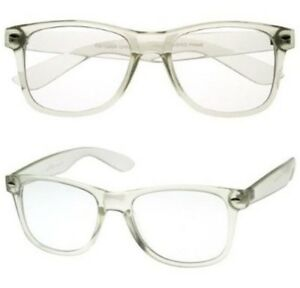 image is loading classic clear frame reading glasses simple unisex readers