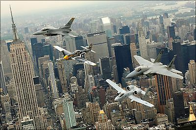 Poster, Many Sizes; P-51 Mustang, F-16 Fighting Falcon, F-15 Eagle, A-10 Thunder