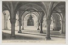 Kent postcard - Canterbury Cathedral - Normans Crypt - LL No. 4