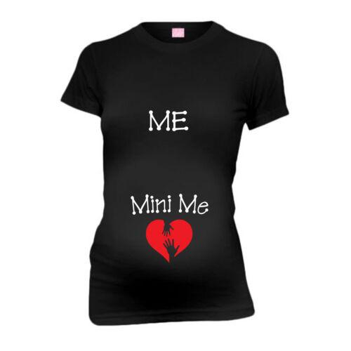 Me Mini Me New Mom Funny Maternity T-Shirt Tee Shirt Top Baby Shower Gift