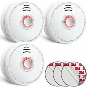 SITERLINK Fire Alarms Smoke Detectors Smoke Alarm with Low Battery Warning an...