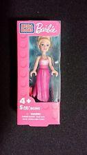 Barbie Mega Bloks Doll Blonde Hair in Bun with Pink Dress