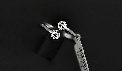 Luxus Verlobungsring Twin Weißgold Plattiert (vergoldet) Damen Ring Silberfarbig