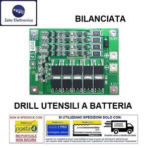 BMS 4S CIRCUITO DI CONTROLLO RICARICA BATTERIA LI-ION 16,8V 40A PROTEZIONE
