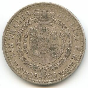 Germany-Hanover-Guillaume-IV-Thaler-1836-a-Clausthal-km-169