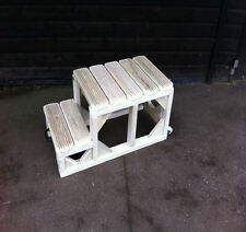 """Mounting Steps Block 24"""" High QUALITY EXTRA LARGE TOP STEP Heavy Duty Horse"""