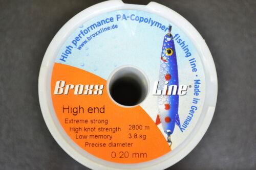 BroxxLine High end monofile Angelschnur 2800m   0,20mm Schnur 0,007€//m