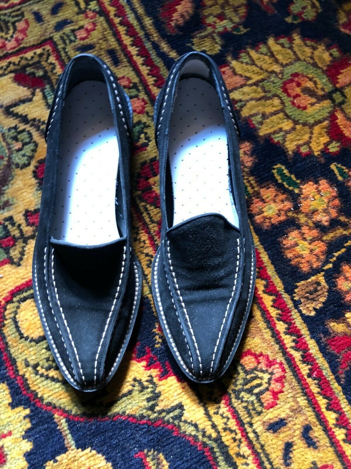 Walter Steiger Steiger Steiger Black Slip On Loafer Flats - 6.5 4886c0