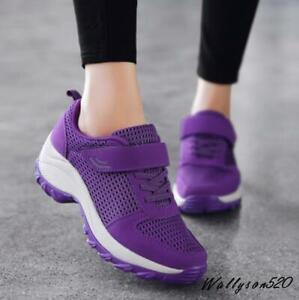 fashion womens breathable tennis shoes lace up casual