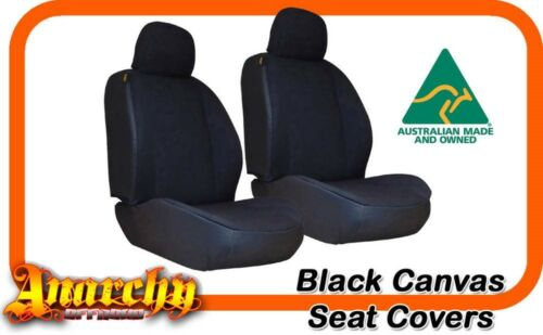 SET Black Canvas Seat Covers for ISUZU DMax Dual Cab 10200852012