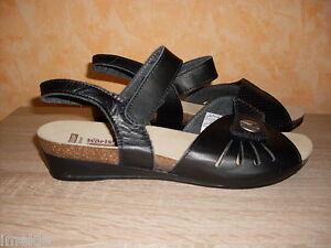 Nouveau et Chaussures Sandales Femme W rishofer en pour G nappa cuir noir Velcro Gr40 ebWEDIHY29