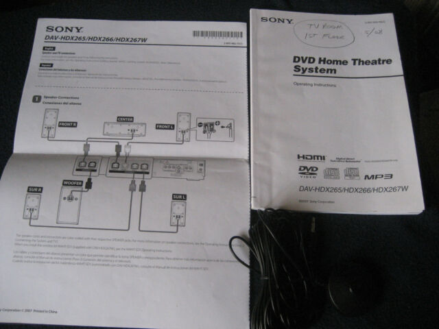 Sony dav-tz130 home theater system owners manual | ebay.