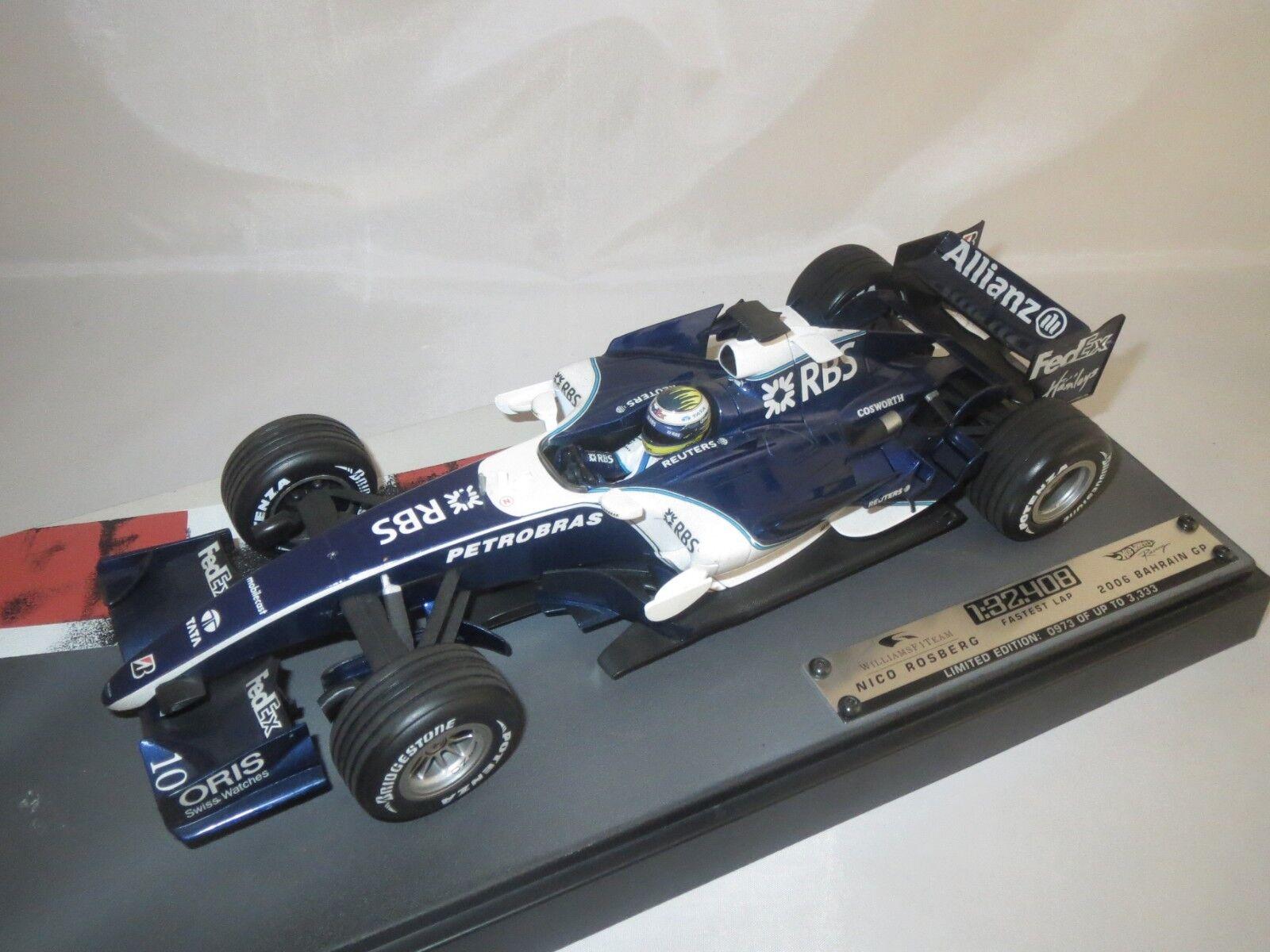 Mattel j2988  Nico Rosberg  (Bahréin gp 2006) 1 18 embalaje original (f16)