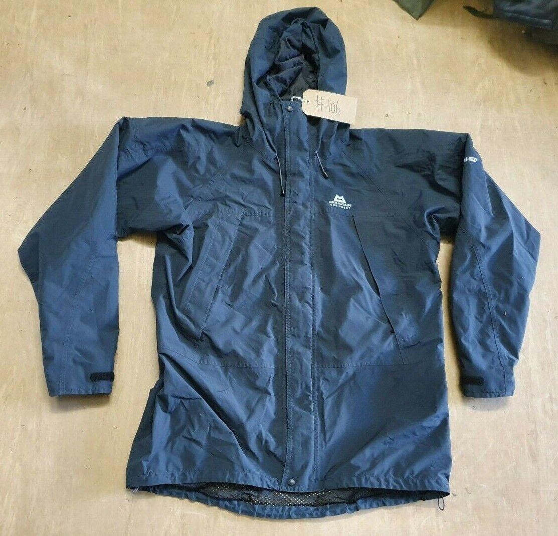 USED Mountain Equipment Navy Blue GoreTex Foul Weather Jacket Size XL #106