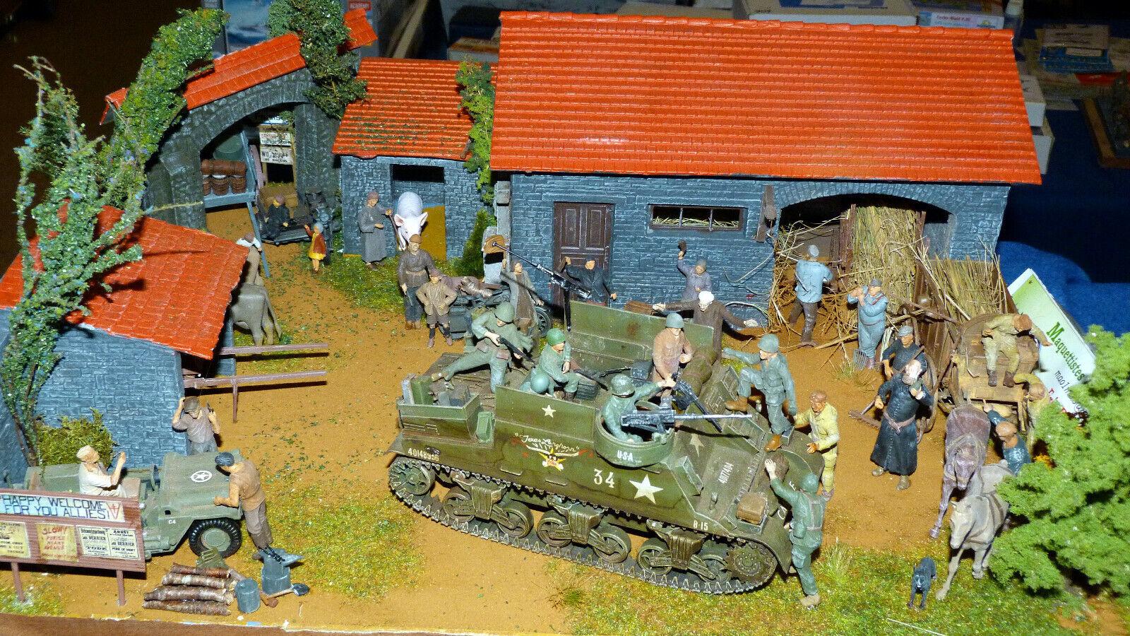 Diorama  35 trés bonne realisation  La ferme libération    1944