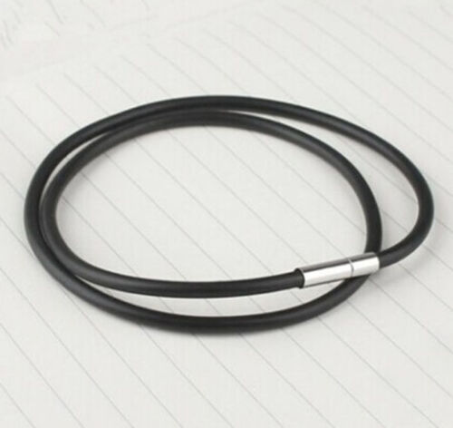 Fashion Men/'s Stainless Steel Clasp Cowhide PU Leather Cord Pendant Necklace HIC