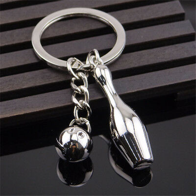 New Arrival Zinc Alloy Bowling Shape Man Gift Key Holder Key Chain Key Ring