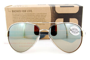 4127f66b45 New Costa Del Mar Sunglasses SOUTH POINT Palladium Silver Mirror ...
