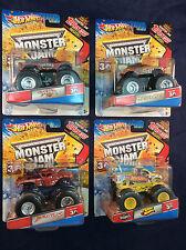 2012 Hot Wheels Monster Jam 1:64 Brutus, El Matador, Monster Mutt & more - NEW