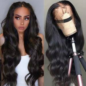 Glueless-Brazilian-Remy-Human-Hair-Wig-Lace-Front-Wigs-Body-Wave-Pre-Plucked-Mdi