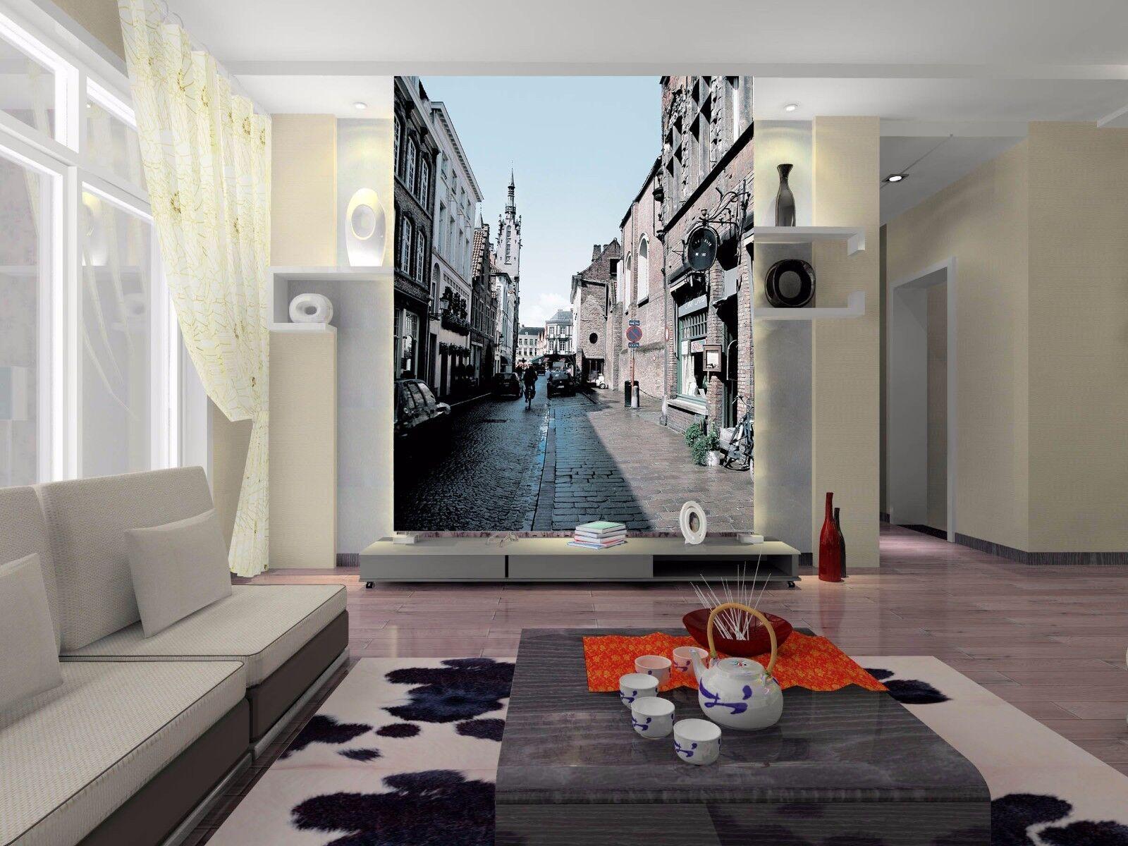 3D 3D 3D House Street 822 Wallpaper Mural Paper Wall Print Wallpaper Murals UK Lemon afdcce