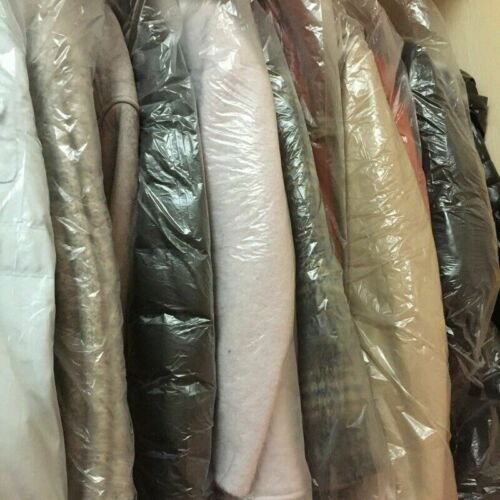 50X Clothes Dust Cover Disposable Wardrobe Hanging Garment Bags Waterproof Clear