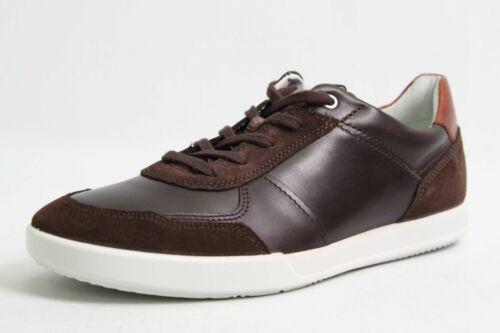 Ecco Schuhe braun Leder Retro Style komfort Wechselfußbett Herren