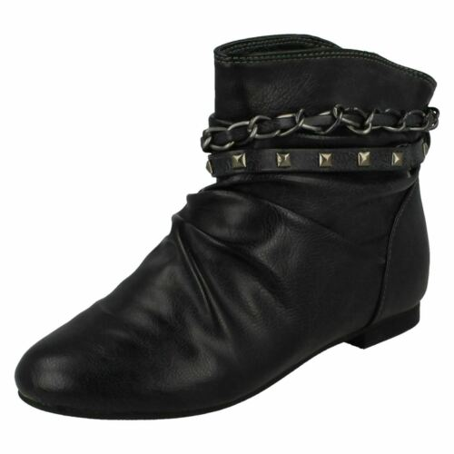 SALE Girls Cutie  synthetic pull on ankle boot H4053