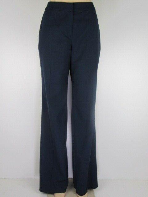 NWT St John Essentials Pants Straight Leg, bluee Navy, Size 8, Retail  396