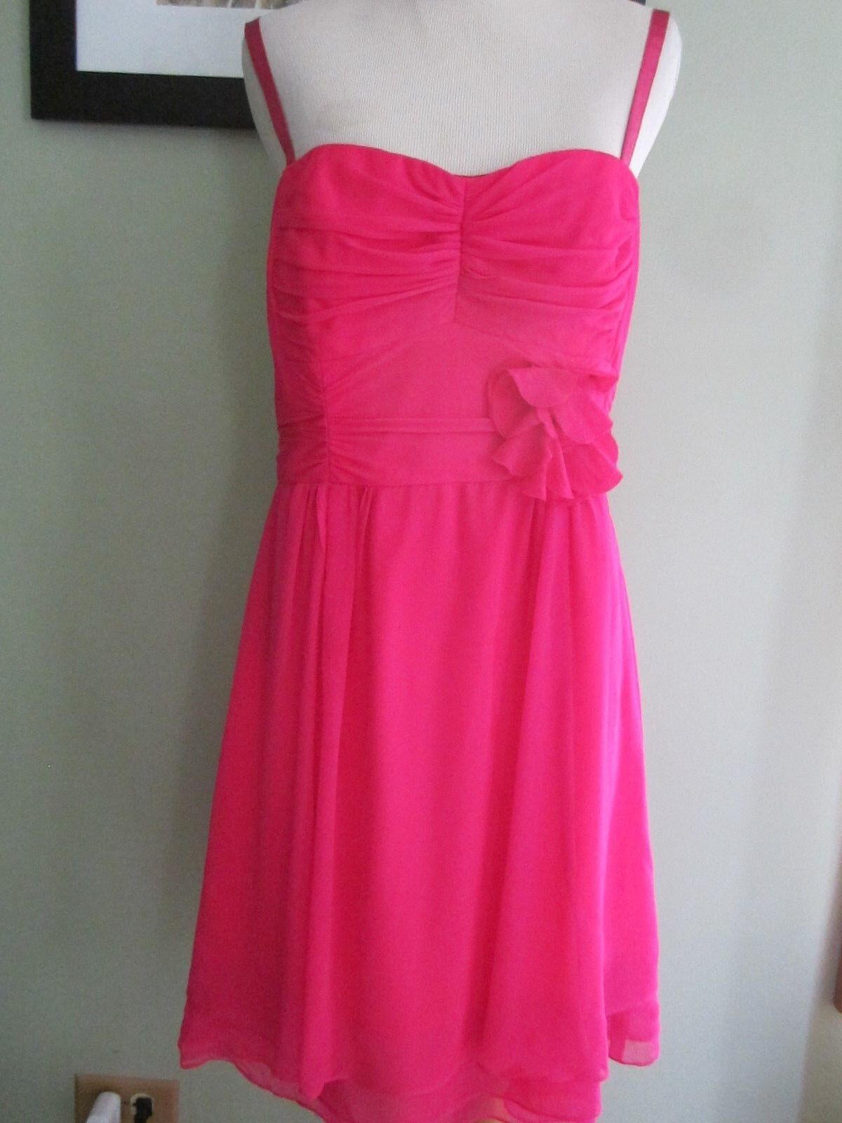 Nanette Lepore Hot Pink Sleeveless Halter Summer Dress Size S