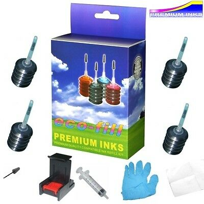 BLACK INK CARTRIDGE REFILL KIT FOR HP OFFICEJET 2620 2622 4630 4632 4634 PRINTER
