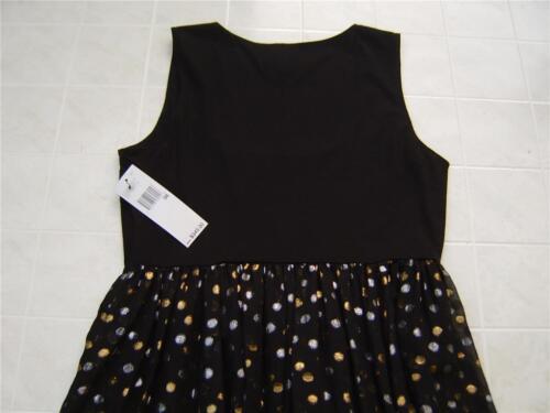 Zwart Dkny Zijde 8 Dot Scoop Plooi Dames 794278470558 Maxi Metallic 345 Jurk Mouwloos rvBrq