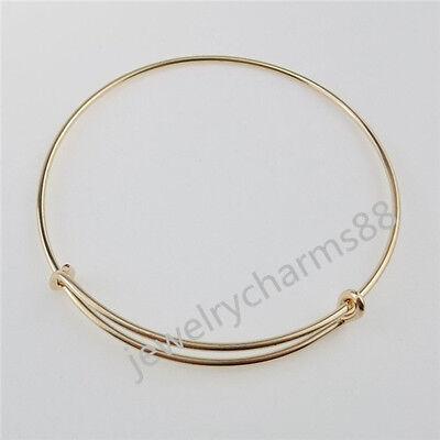 12690 4PCS Rose Gold Tone Adjustable Bangle Bracelet FREE SHIPPING