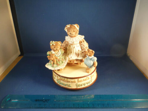 A Mother Holds Her Children's Hands For While & Hearts Forever Teddy Music Box