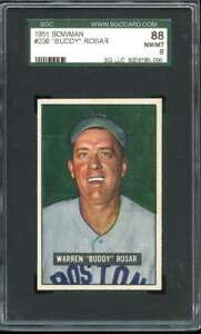 1951 BOWMAN #236 BUDDY ROSAR SGC 8 RED SOX *DS11333