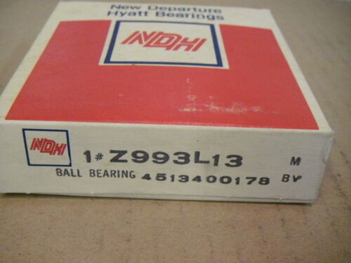 NDH Z993L13 New Departure Hyatt 3L13 Shielded Ball Bearing OEM GM 4513400179