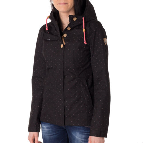Ragwear Lynx Dots Jacke Damen Übergangsjacke raspberry schwarz 42870