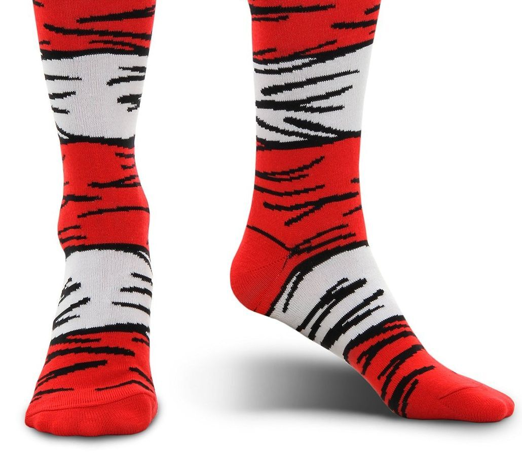 6f6bbcbd97e Dr Seuss Cat in The Hat Costume Socks Knee High elope Kids for sale ...
