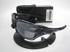New Oakley Sport Pit Bull Crystal Black w/Black Iridium 9127-02