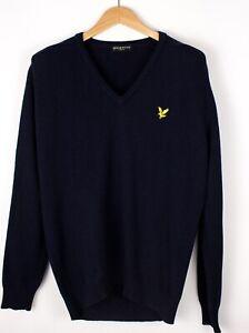 Lyle & Scott Herren Vintage Freizeit Strick Pullover Größe L ATZ428